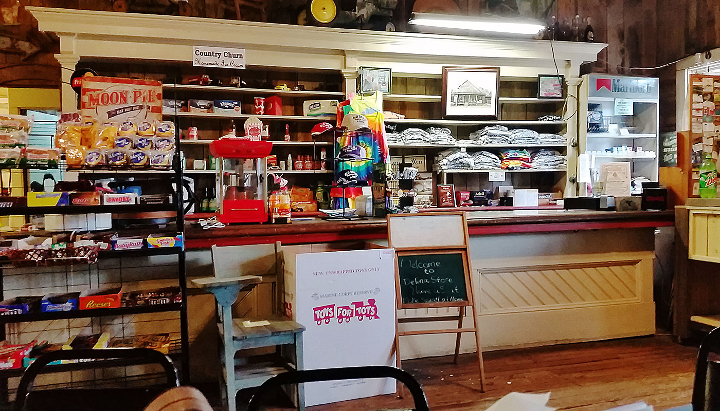Old Delina Country Store Counter