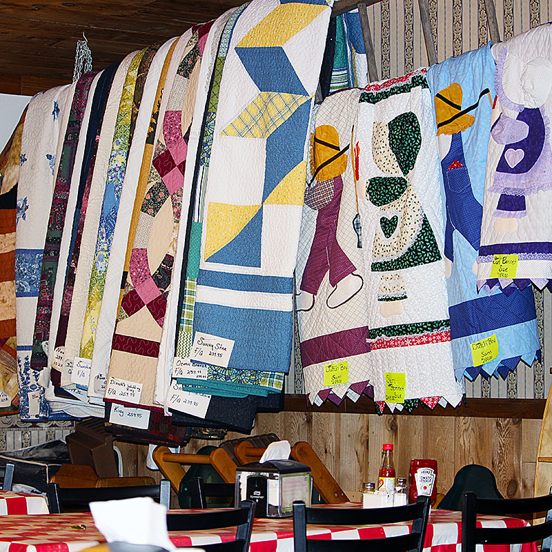 The Old CookStove Restaurant Mennonite Quilts