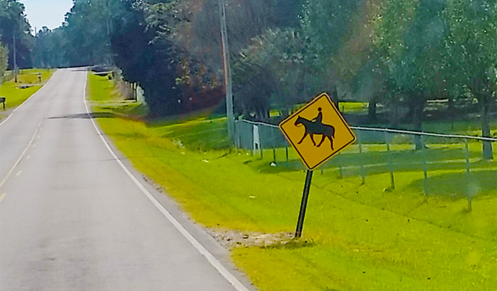 Equestrian Crossing Road Sign